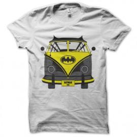 tee shirt batman car blanc