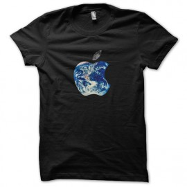 tee shirt Apple World noir