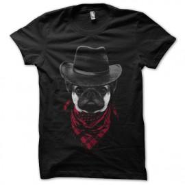 camisa de vaquero negro del barro amasado