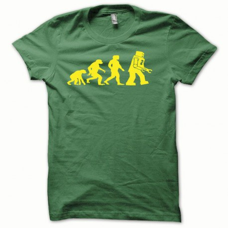 Tee shirt Lego Evolution jaune/vert bouteille