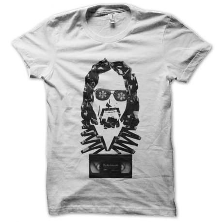 tee shirt Big Lebowski tape blanc
