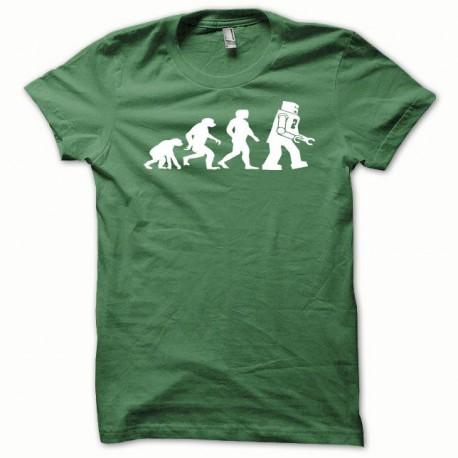 Tee shirt Lego Evolution blanc/vert bouteille