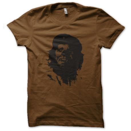 tee shirt chewie che marron