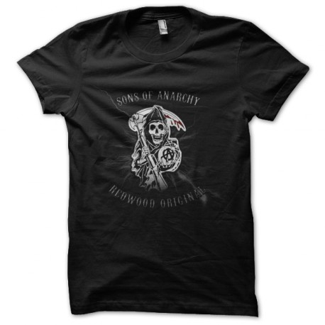 sons of anarchy t-shirt black logo design