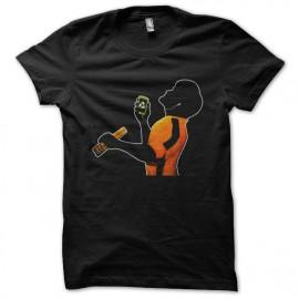negro camiseta Bruce Lee Music