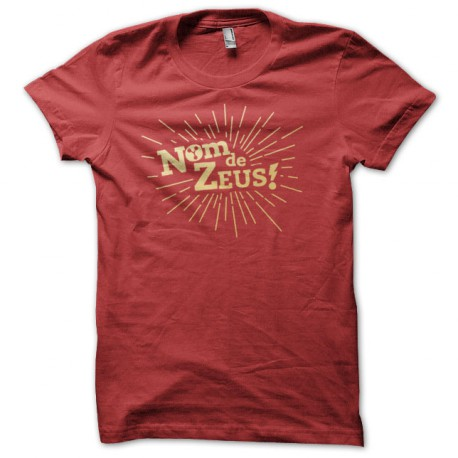 Tee Shirt BTTF Nom de Zeus ROUGE