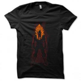 una camisa de hombre negro Super Saiyan