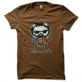 hola camisa marrón tio