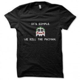 Su camisa Joker simples que matan el negro Pacman