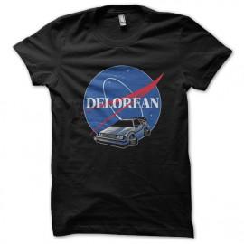 camiseta del negro de la camisa Delorean
