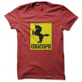 camisa roja del unicornio