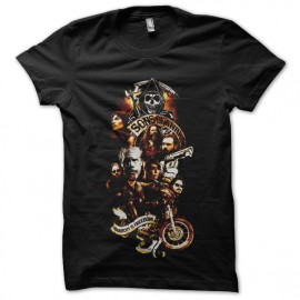 tee shirt sons of anarchy fx design noir