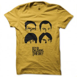camisa de la teoría de explosión grande de color amarillo