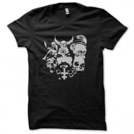Charles Manson camisa de color negro satanista