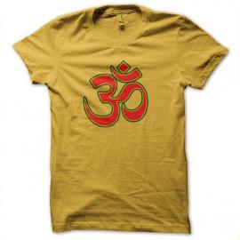 tee shirt hom bouddist jaune