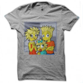 tee shirt simpson version manga gris