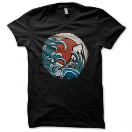 Hokusai Camiseta cómica Negro