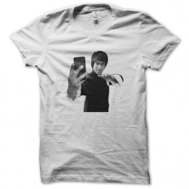 camisa de Bruce Lee autofoto blanco