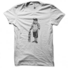 camisa de las tropas de asalto del monopatín blanco