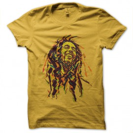 tee shirt bob marley jaune