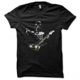 Star Wars invasores guitarra negro camiseta