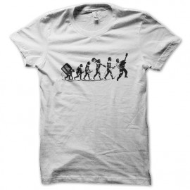 tee shirt evolution rock blanc