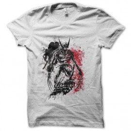 tee shirt wolverine artwork blanc