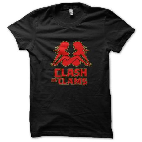Clash of shirt black clams