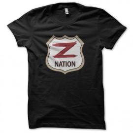 negro camiseta nación z