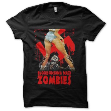 tee shirt bloodsucking nazi zombies noir