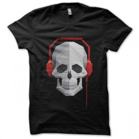music skull t-shirt black