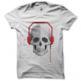 music skull t-shirt white