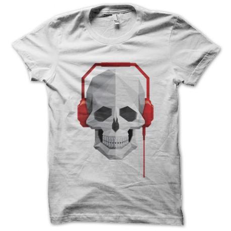 cráneo de la música camiseta blanca
