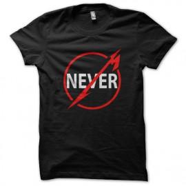 Nunca negro camiseta
