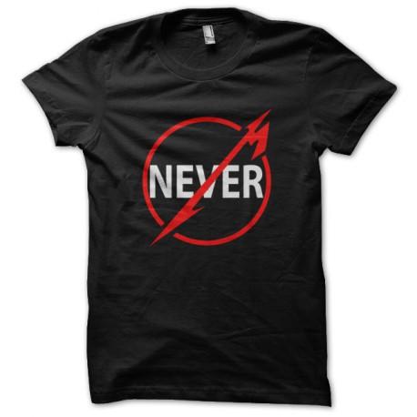 tee shirt Never noir