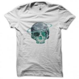 white shirt skull art