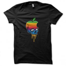manzana cráneo negro camiseta