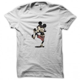 tee shirt mickey mouse boxing blanc