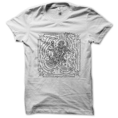 Camisa del tatuaje blanco superstición mágica