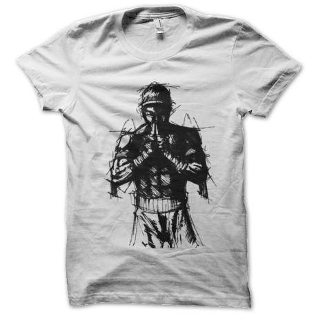 tee shirt thai boxing art blanc