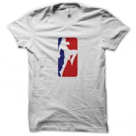 boxeo camiseta el logotipo blanco