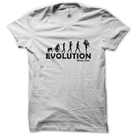 tee shirt Evolution muay thai blanc