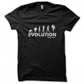 Camiseta de la evolución de muay tailandés negro