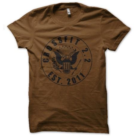 the ramones shirt crossfit brown