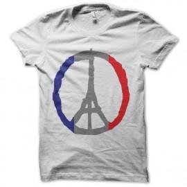 white t-shirt pray for paris
