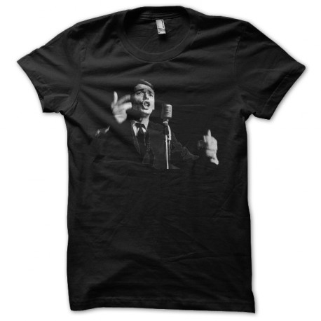 Jacques Brel negro camiseta