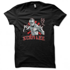 tee shirt stan lee vs bruce lee noir