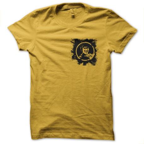 bruce lee shirt splash yellow
