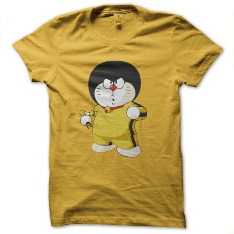 bruce lee shirt doremon yellow