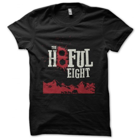 negro camiseta de los ocho hatefull